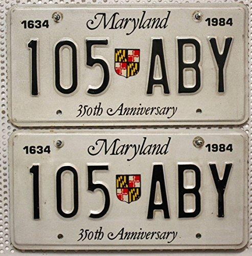 US Nummernschilder MARYLAND Kennzeichen PAAR ~ License Plates Pair USA Fahrzeug-Schilder