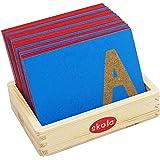SKOLA - SK 057 Toys Sandpaper Letters Tracing - Upper Case Capital Alphabets