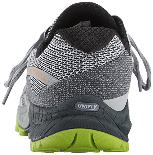 Merrell - All Out Charge, Scarpe da corsa da uomo Multicolore (Grey/Lime Green)