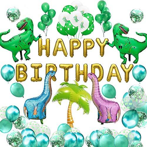 tag Deko Set Happy Birthday Girlande Dinosaurier-Thema Party Jungen Kinder Geburtstag Kinderzimmer Kindergarten Dekoration ()