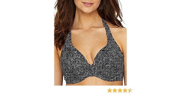 47353948b2 Freya Run Wild AS4614 W Underwired Banded Halter Bikini Top Black (Blk) CS   Amazon.co.uk  Clothing