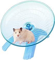 Super Silent Pet Exercise & Running Flying Saucer 18 cm Slide for Healthy, Active & Playful Hamsters/mice/Gerbils etc.