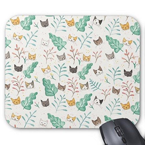 gaming-mouse-pad-leaves-and-cats-rectangle-office-mousepad-9-x-7