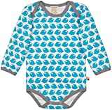 loud + proud Unisex Baby Spieler Body Langarm aus Bio Baumwolle, GOTS Zertifiziert Blau (Petrol Pe), Herstellergröße: 86/92