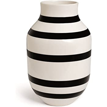 Kähler Omaggio Vase, Keramik, Schwarz-Weiß 30,5 x 19,5 cm