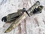 U.S. Army M-9 Typ-3 - Multipurpose M9 Militär Bajonett mit extrem Sägerücken - taktisches Kampfmesser in verschiedenen Farben (Full - Camouflage)