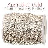 Aphrodite Gold 10metros Premium bañado en plata cadena