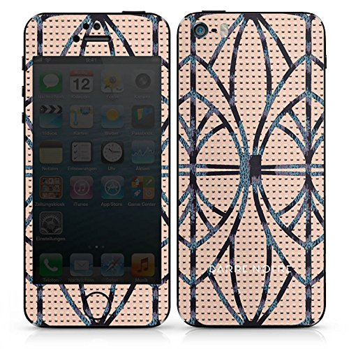 Apple iPhone SE Case Skin Sticker aus Vinyl-Folie Aufkleber Leder Look Leo BARRE NOIRE DesignSkins® glänzend