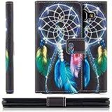 Coque Samsung Galaxy A3 (2016) Housse Etui Flip Cover Wallet Case avec Poche intérieur Cover Haute Qualité Plume/Attrapeur de Rêves (Dreamcatcher)