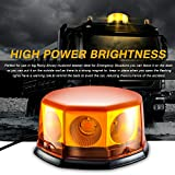 8 COB Beacon Magnetic Orange LED, Lampeggiante Segnale di avvertimento Spia luminosa per tetto di auto.