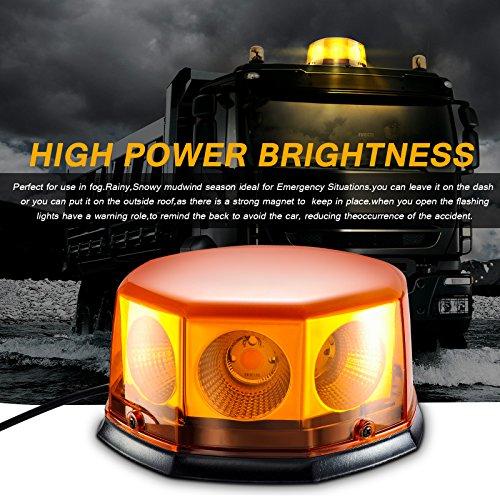 Appow 40 W COB LED Stroboskoplicht mit Magnetfuß für Auto Boot Dach, 12-24 V, 10 Leuchtmuster