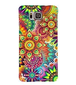 Fiobs Designer Back Case Cover for Samsung Galaxy Alpha :: Samsung Galaxy Alpha S801 :: Samsung Galaxy Alpha G850F G850T G850M G850Fq G850Y G850A G850W G8508S :: Samsung Galaxy Alfa (Multicolor Ethnic Design)