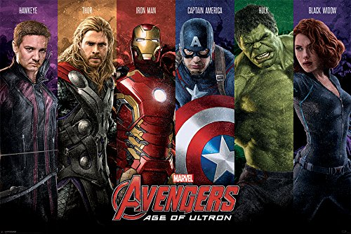 REINDERS Avengers - age of ultron (team) - Poster 91,5 x 61 cm