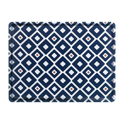 Platex 104030314S Plateau Grand modèle Cross, Stratifié Mélaminé avec Inclusion de Tissu, Noir, 40 x 30 x 0,5 cm
