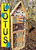 Estate Design Dark Brown Teak Insect Hotel with...