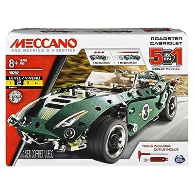 Meccano 6040176 5 in1 Model Set - Roadster Cabriolet
