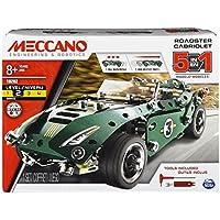 Meccano 5 Model Set - Roadster w. Pull Back Motor 6040176