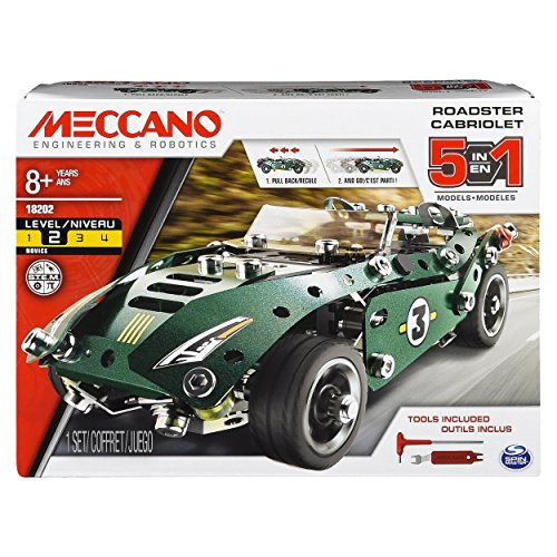 Meccano - 6040176 - Jeu de Construction - Cabriolet Rétro Friction 5 Modèles