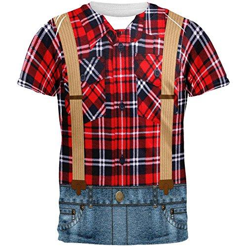 lzfäller ganzen Erwachsenen-t-Shirt-X-Large (Holzfäller-halloween-kostüm)
