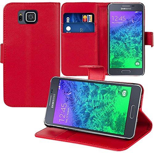 Custodia cover custodia supporto Video Libro Portafoglio pelle PU per Samsung Galaxy Alpha SM-G850F/Galaxy Alfa/Alpha (S801)/G850FQ G850Y G850A G850T G850M g850W G8508S