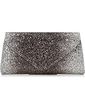 Coast Bags Damen Myra Clutch, Silber (Silver), 4x13x25 cm