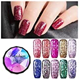 Frenshion 8g 10 Stücke / Los Nagellack Diamant Soak-off UV LED Gel Polish Platinum Gellack Auflosbarer Base Top Manikure Wählen Sie irgendeine Farbe 10