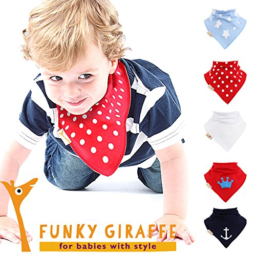 Petit Prince - Lot 5 bandanas bavoirs par Funky Giraffe