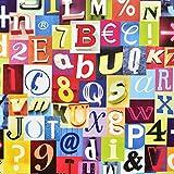 Fablon - Carta adesiva 45 cm x 2 m, soggetto: lettere e numeri