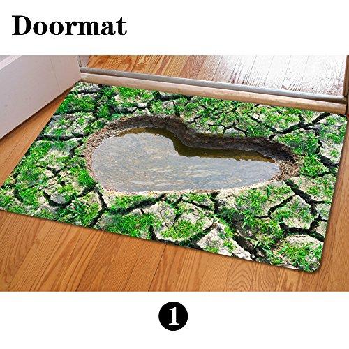 Love House Indoor Outdoor Fußmatten Polyester Epoxidgleitschutz,Muster Teppich-matten Dekorative Lustig Von Hinten Weich Badezimmer-matten Und Teppiche-A 40x60cm(15.7x23.6inch) -