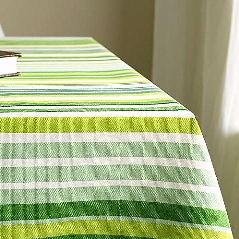 Longzhi frisches Grün gestreiften Tuch Baumwolle Tuch Tuch Tuch 140 * 220 Cm