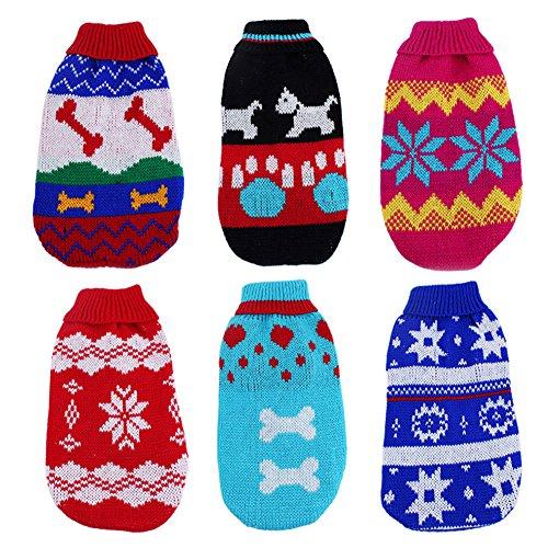 Tenchif Hunde Weihnachten Sweatshirt BekleidungWinter Kleider Jumper