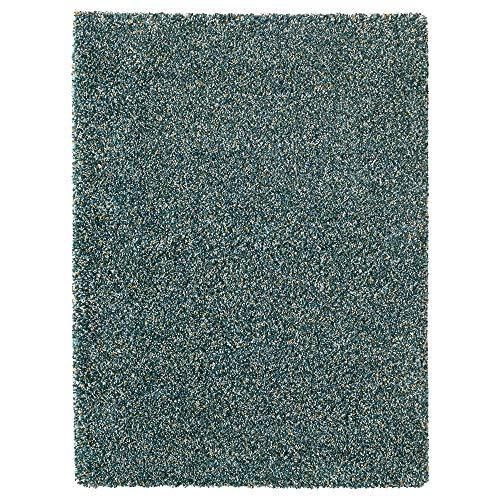 MBI Teppich Hochflor blau-grün Größe aufgebaut 180 cm Breite 133 cm Dicke 30 mm