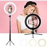 Luce ad Anello, sumgott LED Ring Light 10 Pollice Dimmerabile Selfie Ring Light, 3 Modalità Colore e 10 Luminosità…