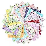 ofoen Origami Papier, 144Blatt Craft Faltblätter Origamipapier Wash Faltblätter, 15x 15cm