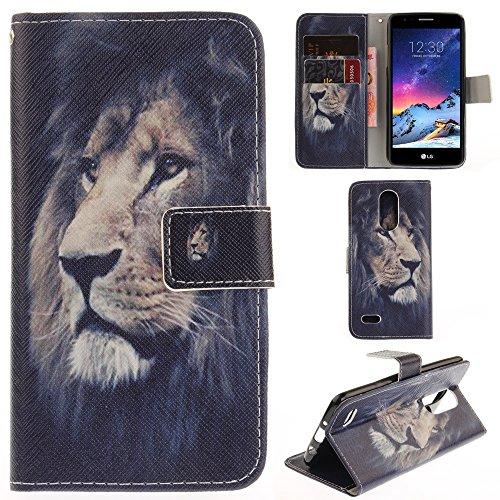 Ooboom® LG K8 2017 Hülle Flip PU Leder Schutzhülle Handy Tasche Case Cover Wallet Standfunktion mit Kartenfächer Magnetverschluss für LG K8 2017 - Löwe
