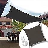 Kookaburra Wasserfest Sonnensegel Anthrazit Wasserabweisend Impr/ägniert Wetterschutz 98/% UV Schutz f/ür Garten Terrasse und Balkon 2,0m Quadrat