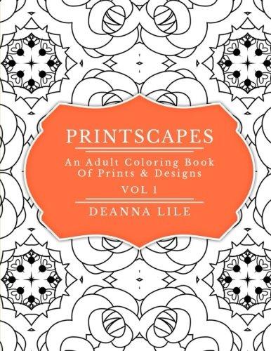Printscapes: An Adult Coloring Book Of Prints & Designs Depression Glass Set
