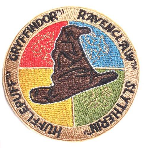 Harry Potter Gryffindor Ravenclaw Slytherin Hufflepuff Hogwarts Sortieren bestickt abzeichen Patch Aufnäher oder zum Aufbügeln 9cm