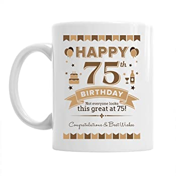 75th Birthday Gift For Men 1943 Keepsake 75 Year Old Coffee Mug