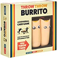 Throw Throw Burrito by Exploding Kittens - A Dodgeball Card Game - Family Card Game - Card Games for Adults, Teens…