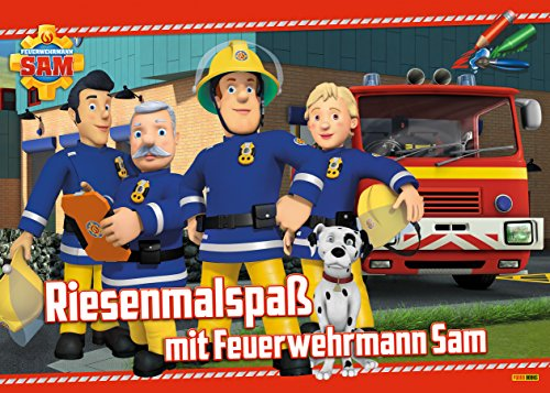 Riesenmalspaß mit Feuerwehrmann Sam -