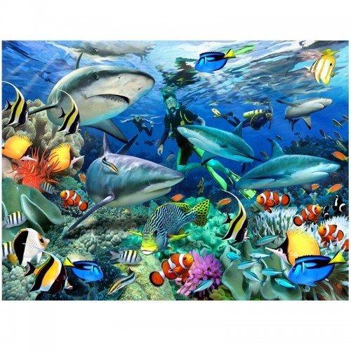 3d-design-greetings-card-reef-sharks
