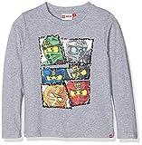 LEGO Wear Ninjago Tony 713-T-SHIRT L/S, Camiseta para Niños, Gris (Grey) 10 Años