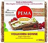 PEMA  Vollkorn Sonne 6x500g, Roggenvollkornbrot mit 5% Sonnenblumenkernen, 1er Pack (1 x 3000 g)
