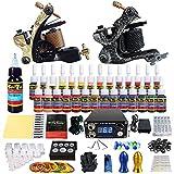 Solong Tattoo equipos del Tatuaje Completo 2 Maquina de Tatuaje 28 Tintas Fuente de Alimentacion Pedal Agujas Grips Consejos TK222
