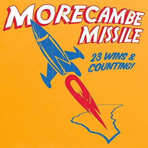 Morecambe Missile T-Shirt, Herren Gelb