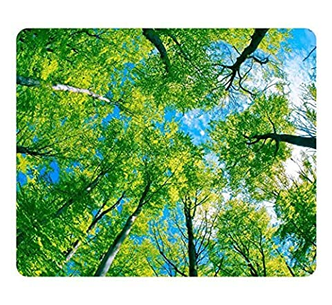 Creative Design Mouse Pad Rectangle Small Mouse Pad Green Forest Tree Canopy Rectangle Non-Slip Mousepad Customized Oblong Gaming Mouse