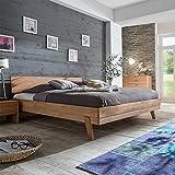 Pharao24 Bett aus Kernbuche Massiv 180x200 Breite 168 cm Liegefläche 160x200