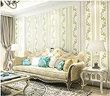 Yosot Einfache Und Moderne Wohnzimmer Schlafzimmer Tapete Fernseher Sofa Hintergrund 3D-Relief Vliestapeten Hellgrün