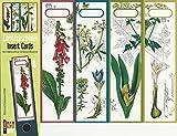 4 Einsteckschilder Ordnerrücken Blume Fingerhut Blumenzwiebel Einsteck Ordner Deko IC26